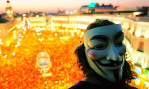 Guy Fawkes at an Occupy Protest