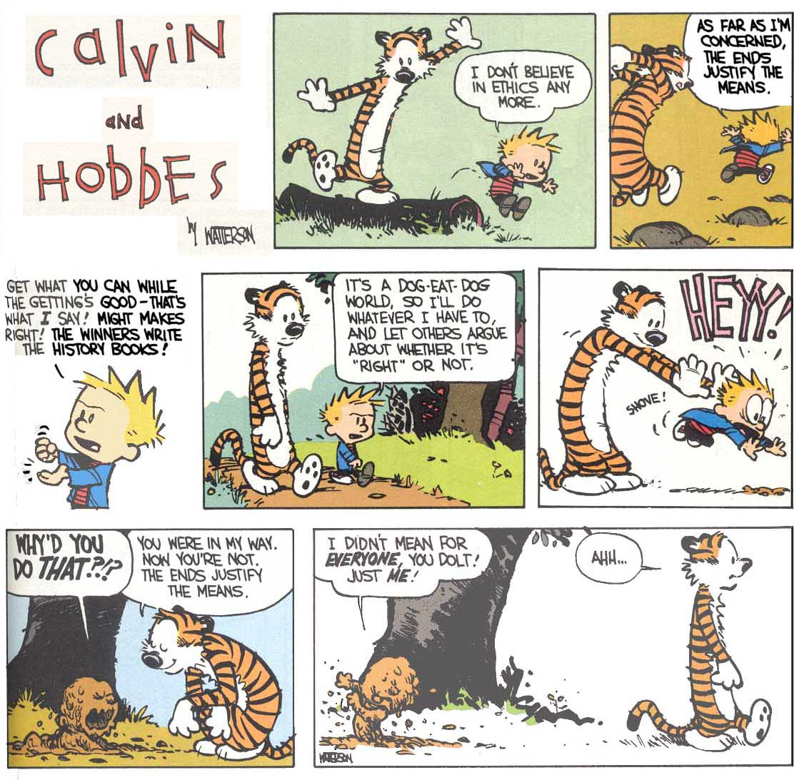utilitarianism in brave new world a critique lacking material calvin and hobbes on ethics by bill watterson