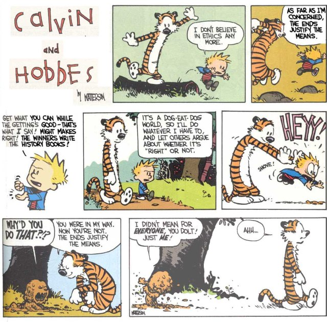 Calvin and Hobbes on Ethics, by Bill Watterson