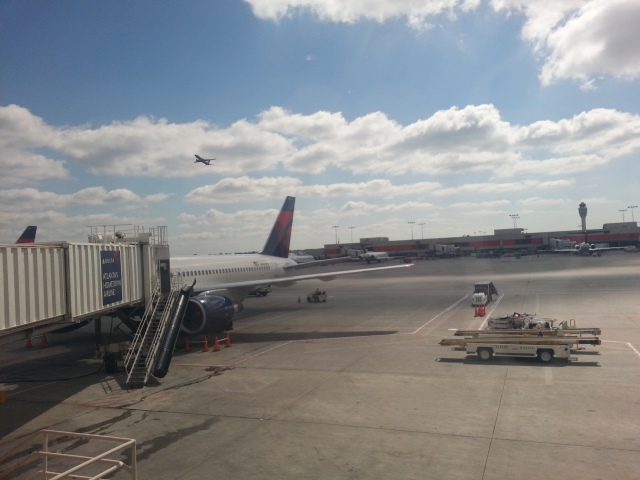Picture I took at Atlanta International while I was writing this post!