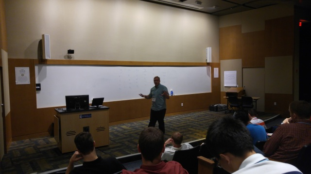 """Dr. Wenzel giving his lecture """"Trade, Exchange, and Property Rights"""""""