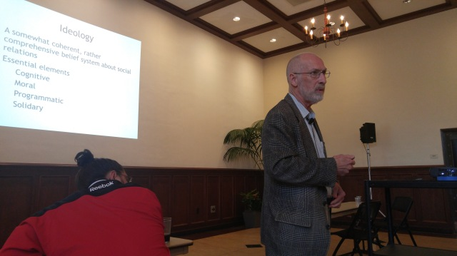 Dr. Higgs giving his keynote lecture on Wednesday night, source: Independent Student Network