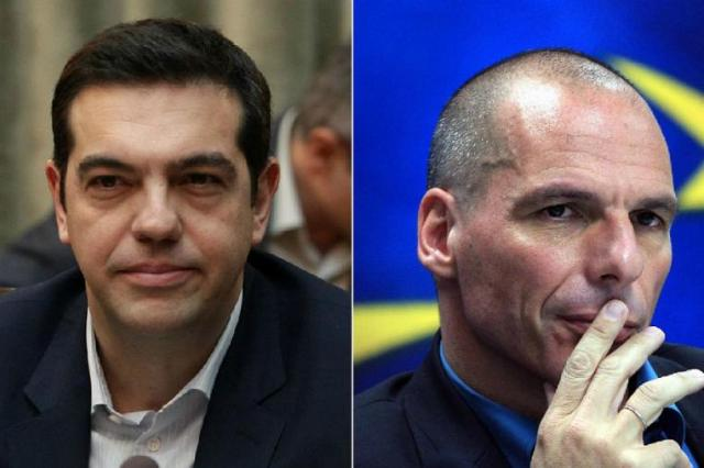 Tsipras and Varoufakis, source: EPA